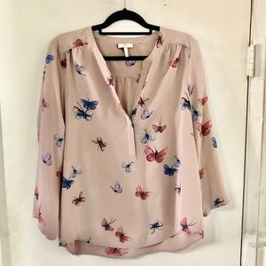 Joie butterfly blouse sz large